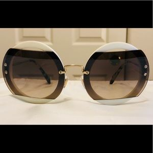 New Miu Miu SMU 06S Round Sunglasses